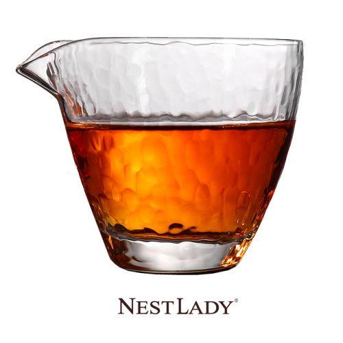NESTLADY 日式锤目纹玻璃公道杯 日式分茶器 1个