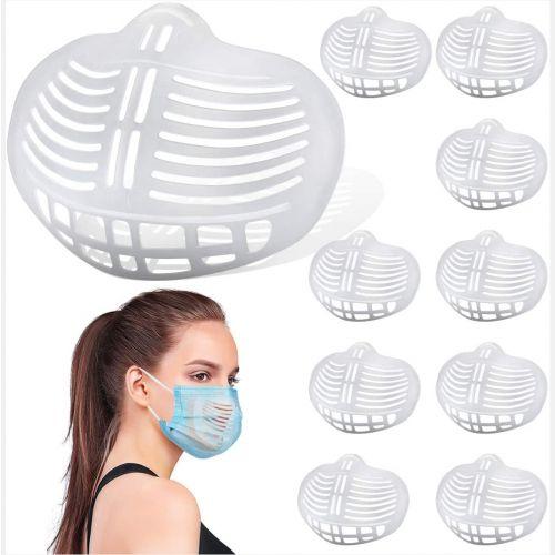 LIGHTRIVER 口罩支撑架 10PCS 让布料远离嘴部 可重复使用 口罩支架 保护唇膏 创造更多的呼吸空间
