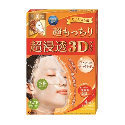 KRACIE Deep Stretch 3D Hyaluronic Acid Mask 4PCS