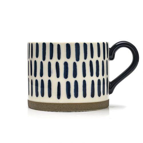 NESTLADY Hand Painted Striped Mug