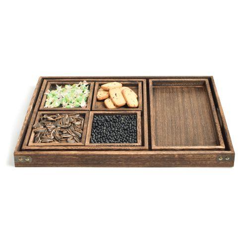 NESTLADY Paulownia Tea Tray Set