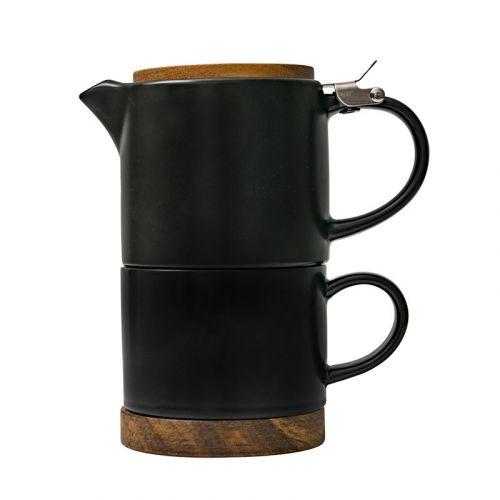 NESTLADY Nordic Teacup And Teapot Set (Black)