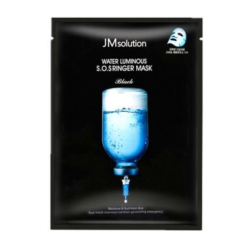 JM Solution Water Luminous S.O.S Ringer Mask Black (Pack of 10)