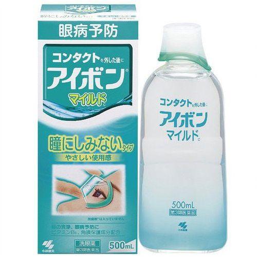 日本KOBAYASHI小林制药 洗眼液 绿色低刺激缓解疲劳 500ml